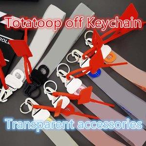 hombres y mujeres 20ss Totatoop fuera de metal chapado en llavero hebilla decorativa accesorios de moda colgante de impresión transparentes del alfabeto DIY Llavero