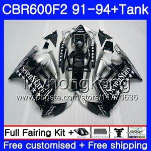 Body + Tank sevenstars blk Für HONDA CBR 600F2 CBR600FS CBR600F2 91 92 93 94 288HM.6 CBR 600 F2 FS CBR600 F2 1991 1992 1993 1994 Verkleidungskit