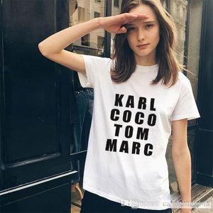 Nice Summer Men & Women Black karl tom marc American T shirt Woman Tee Fashion Tops Street Hippie Punk Men & Womens Tshirts baby168