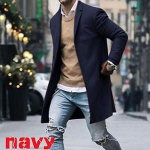 Nouveau Hommes cotonnades Costume Design Manteau chaud hommes Trench Casual design Slim Fit Bureau Costume Vestes Drop Shipping