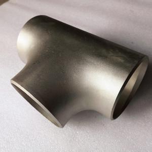 Gr2 Titan-Rohrfittings aus Titan Winkelstück / T-Stück / Reduzierstück ASME B16.9 Gr2 Gr7 Titan-T-Stück, das das gleiche T-Stück für das Rohrfitting reduziert
