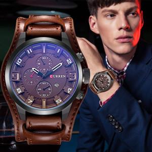 Relogio masculino CURREN Uhrmens Quarz-Uhr Herren-Uhr-Spitzenmarken Luxus-Leder-Sport-Armbanduhr-Datum Uhr 8225