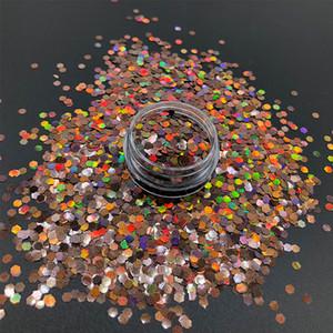 100g Holographische Laser Chunky Glitter Pulver Bilden Kosmetik Für Gesicht Körper Party Glänzende Pailletten Flocken Für Nägel Kunst Dekoration