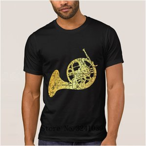 Anlarach Funny Casual french horn ancient gold men's t shirt cartoon Spring Crazy t-shirt for men Round Collar tee shirt man