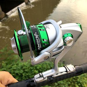 Fishing Reel 1000-7000 Series 12BB Bearing Balls Spinning Metal Spool Saltwater Fishing Wheel GL 5.5:1 Fish Reel Tackles