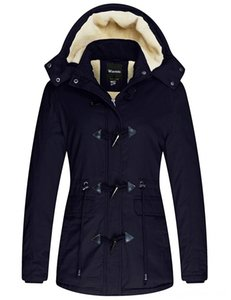 Womens Winter Thicken Jacket Cotton Coat with Removable Outerwear & Coats Clothing Hood Womens Winter Thicken Jacket Cotton Coat with Remova