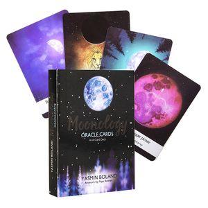 Moonology Oracle Kartları A 44-Kart Güverte ve yaşam üzerindeki kazanç netlik Elektronik Kılavuzu Tarot Kart Oyunu Oyuncak Ayın gücü