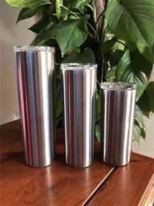 30oz тощий тумблер Прямой стакан с вакуумной изоляцией тумблеры стальной стакан из нержавеющей стали с крышками и соломинки на складе