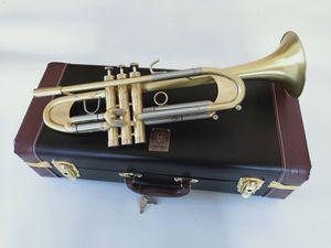 Nueva Bach B trompeta trompeta plana LT197GS-77 Tipo de instrumento musical más pesado chapado en oro de la trompeta de reproducción de música