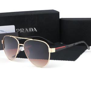 2020Classic Pilot Sunglasses Mens Womens Sun Glasses Eyewear Gold Metal Green Glass Lenses Case