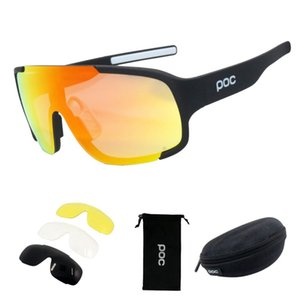 Yeni POC 4 Mercek Bisiklet Gözlük Bisiklet Spor Güneş Erkekler Kadınlar Dağ Bisiklet Döngüsü Gözlük lentes de sol para