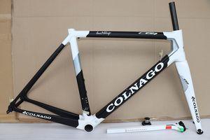 2019 nouvelle course de vélo de route cadre carbone cadre Colnago C64 vélo Cadre blanc couleur noire