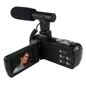 Display della fotocamera Nuovo DV888 HD Digital Teleobiettivo fotocamera 3 pollici touch con microfono Reporter video di nozze Viaggi Regali essenziali