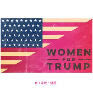 Banner Tatil Dekorasyon Makaleleri 2020 Seçim 18ym UU Asma 90 x 150cm Kadın İçin Trump Bayrağı Polyester