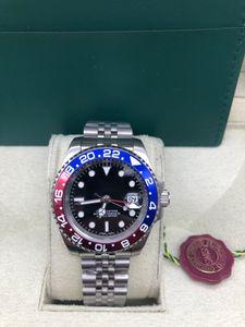 Mens Sapphire Dive relógio automático 2813 Gmt II Relógios Homens Esporte Batman Pepsi Mestre 116719 BLRO Perpetual 116710 superlativo de pulso