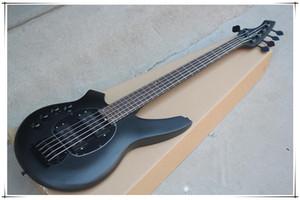 Custom Factory Gauche Noir Guitare basse électrique avec Palissandre, matériel noir, offre sur mesure.