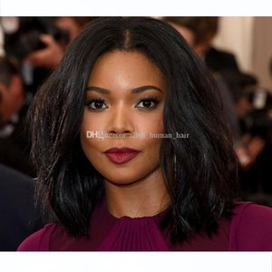 Lace Front Human Hair wigs Wavy Short Bob wigs 150% Density Malaysian Virgin Hair With Baby Hair Natural Hairline Bleached Knots Glueless