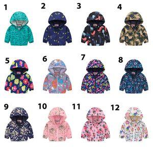 Çocuklar 2-7T D için 40 renk Yeni Marka Çocuk Giyim Boys Kız Ceketler Çocuk Kapşonlu WINDBREAKER Bebek Su geçirmez Kapüşonlular Bebek Bebek Coat