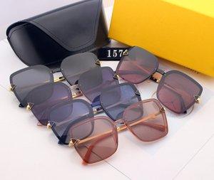 Et lunettes de soleil vendant des lunettes de vue de lunettes de vue à gradient polarisée carrée à chaud sans cadre 2020 Personnalité Européenne American Goggle Rxfu