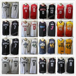 Stitched Youth Kids Basketball Kyrie Irving 11 Kevin Durant 7 Donovan Mitchell 45 Dwyane Wade 3 James Harden 13 Jerseys Child Boys Girls