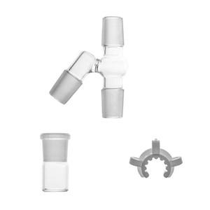 Set di ricircolo di 90/45 gradi per bong in vetro rig con adattatore 14 18 maschio e femmina Completo nuovo dispositivo di recupero del design