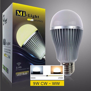 MILIGHT MILIGHT E27 9W dual white spot light ac85v-265v dimmable color adjustable remote and bluetooth control 100lm w