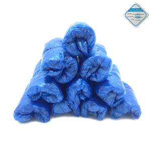 100Pcs Disposable Plastic Anti Slip Boot Safety Shoe Cover Cleaning PVC Plastic Over Shoes Shoe Boot Covers Carpet Protectors