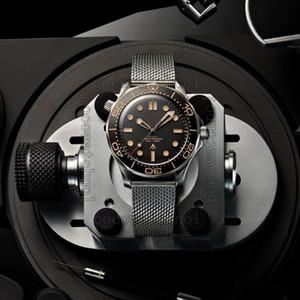 Новые роскошные механические мужские часы Professional 300m James 007 черный циферблат механизм с автоподзаводом дизайнерские часы montre de luxe наручные часы