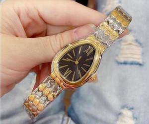 Serpiente forma de diamante mujeres del reloj de señora diseñador de relojes de lujo vestido de las señoras de la hebilla plegable femenina de oro rosa relojes de pulsera de regalo de reloj para chica