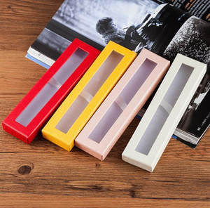 High Quality Paper Pen Pencil Case With Clear Window Box Display Boxes Wedding Gift Customized LOGO
