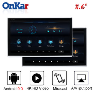 2019 Auto-Android-Monitor Kopfstütze mit 11,6 Zoll IPS-2.5D Touch Screen 2GB + 16GB Unterstützung MP4 / MP5 / HDMI / SD / FM / Mirroring / Miracast / USB