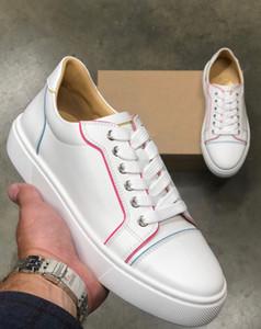 Marque de luxe escompte Vieirissima Red Bottom Sneakers sport en caoutchouc blanc confortable Sole Chaussures Casual - Party Robe de mariée
