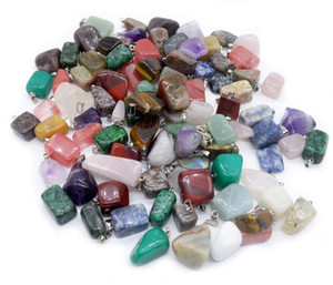 HOT Pedra Natural pingentes Irregular Jade Natural de pedra pingente colar de ágata pedra de quartzo de jóias de opala nenhuma cadeia