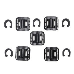 2x Bicycle Cable Guide Brake Line Holder Clips, Cycling Shift Cable Brake Gear Cable Fixing Holder Guide Clamps - Select Colors