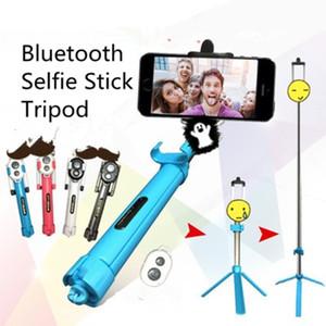 Monopods 블루투스 3.0 Selfie 스틱 삼각대 핸드 Foldable 야외 아이폰 IOS 안드로이드 4 색상에 대한 미니 유연한 사진 도구