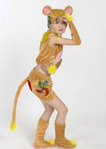 2019 New style children Cosplay Monkey Animal perform clothing Boys and girls Dance Conjoined clothes