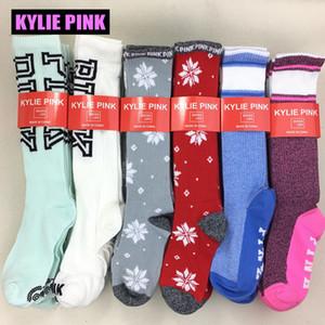 KYLIE PINK calcetines para mujeres niñas calcetines largos hasta la rodilla medias de algodón para otoño invierno Calcetines para Navidad tamaño libre flexible