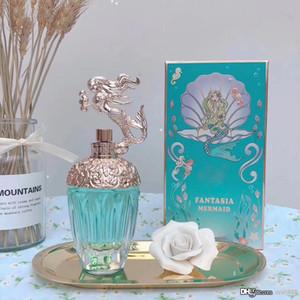 High-End Mulheres Perfume Fantasia Mermaid 75ML EDT 2.5FLoz Eau de Toilette vidro azul Design Garrafa de tempo de longa duração Cheiro New in Box