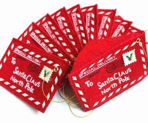 Produits de décoration de noël créatifs Enveloppe de Noël sacs de bonbons cadeaux Boîte à cartes-cadeaux Porte-cartes de Noël
