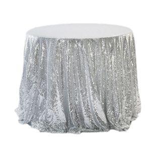 Champán / dorado / plateado / rosa / azul Lentejuelas TableCloth Cuadrado / Redondo / rectángulo Tela de mesa para bodas Cubierta de la capa Decoraciones para fiestas Suministros para bodas