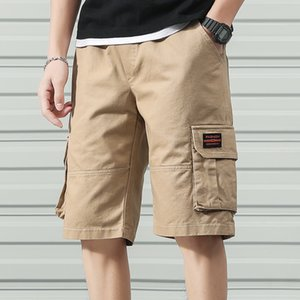 Anbican Moda 2020 verano ocasional de carga pantalones cortos de algodón para hombres Pantalones Pantalones cortos masculino de la corto CX200624