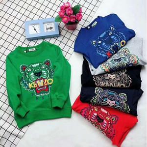 2019 marca Autunno Nuovo prodotto Abbigliamento per bambini Bambini Cartoon ricamo tigre Felpe con cappuccio
