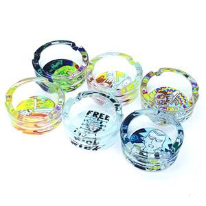 posacenere all'ingrosso di alta qualità di vetro per le sigarette vassoio all'aperto Easy Clean decorazioni della Camera di cristallo Ash per Casa / Ufficio