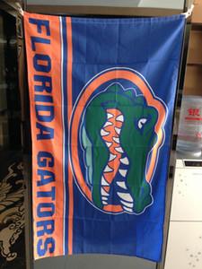 Florida State University Bandeira Gator Bandeira NCAA 3x5FT 150x90cm 100D Poliéster Impressão Hanging Bandeira com latão Grommets frete grátis