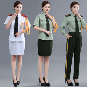Flag-raiser clothing National Flag class honor guard dress stage costume female banddrum Navy uniform cover Stage clothes uniform