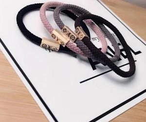 Vendita calda! 4Colors 2 stili scintilla stampa linea brillante capelli fune ad anello crine di cavallo gioielli coda legame elastico robusto durevole fasce dei capelli di gomma