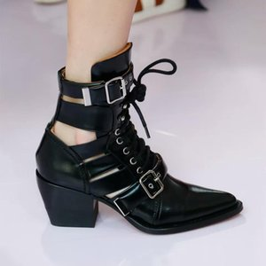 Watersnake Embossed Leather Womens Ankle Boots Breathable Knight Motorcycle Boots Navy Blue Black White Gladiator Sandals Dress Party Shoes