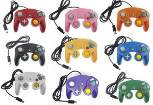 Joystick Gamepad NGC Wired Gaming Game Controller para NGC Console Gamecube Wii U Cabo de Extensão Turbo Dualshock