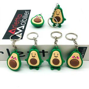 1pc New Simulation Fruit Avocado Smile-shaped Keychain Toys Avocado Key Chains Fashion Birthday Gifts