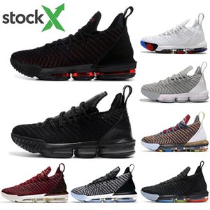 moda James frescas criados LeBron Shoes Chegada XVI 16 Basketball Shoe 16s 1 a 5 Mens Athletic lobo cinzento Sports sapatos tamanho 40-46